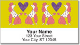 Primped Poodles Address Labels