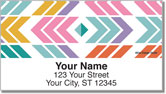 Chevron Geometrics Address Labels
