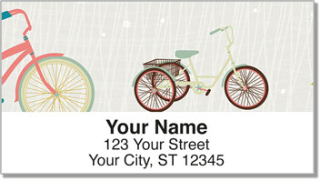 Fun Bike Address Labels