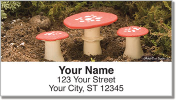 Enchanted Mushroom Address Labels
