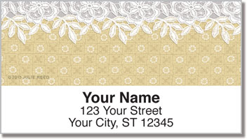 Lace Border Address Labels