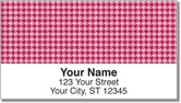 Reed Houndstooth Address Labels