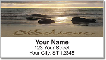 Inspirational Sand Scribbles Address Labels