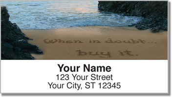 Quote Sand Scribbles Address Labels