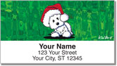Christmas Westie Address Labels