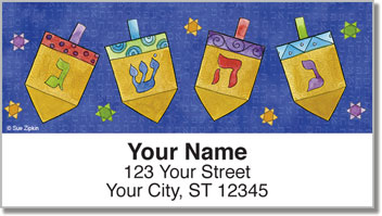 Zipkin Hanukkah Address Labels