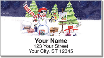 Snow Artist Address Labels