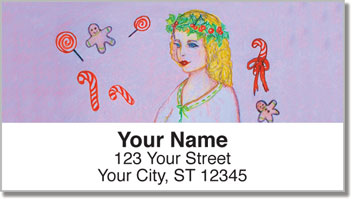 Victorian Christmas Address Labels