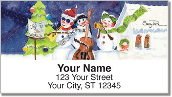 Snow Musician Address Labels