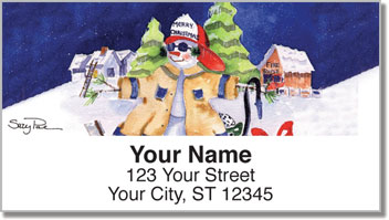 Snow Worker Address Labels