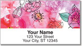Margaret Berg Peonies Address Labels