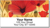Wild Poppies Address Labels