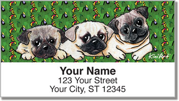 Pug Series Address Labels