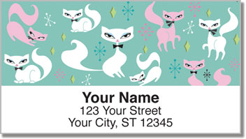 Swanky Kitten Address Labels
