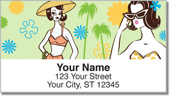 Palm Springs Mod Address Labels