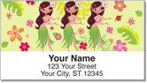 Hula Girl Address Labels