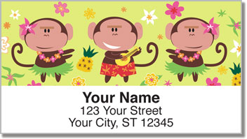 Hula Monkey Address Labels