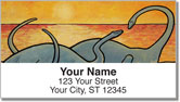 Pacific Dinosaur Address Labels
