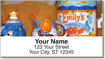 Country Teapot Address Labels