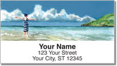 Meyer Beach Scene Address Labels