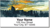 Sunset Scene Address Labels