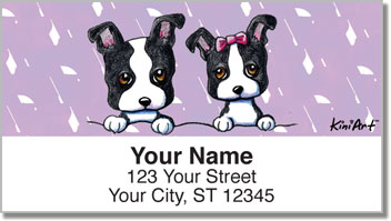 Boston Terrier Address Labels