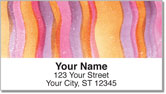 Painted Pattern Address Labels
