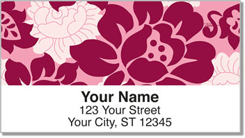 Rose Noir Address Labels