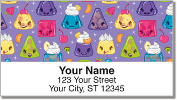 Cute Jello Address Labels