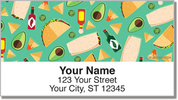 Fiesta Food Address Labels