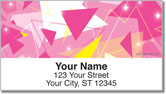 Geometric Sparkle Address Labels
