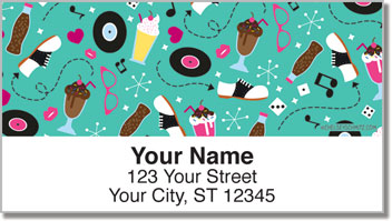 Vintage 1950s Address Labels