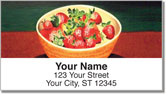 Strawberry Dish Address Labels