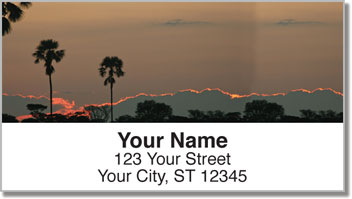 African Sunset Address Labels