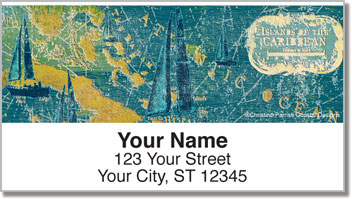 Caribbean Sail Address Labels