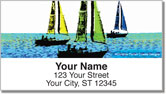 Sailboats Address Labels