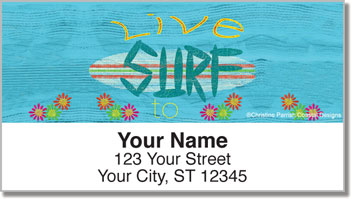 Barker Surfing Address Labels