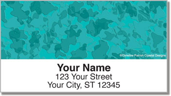 Water Camo Address Labels
