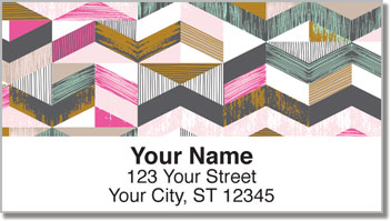 Textured Geometrics Address Labels