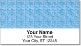 Blue Linen Address Labels
