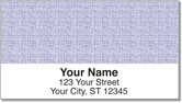 Purple Linen Address Labels