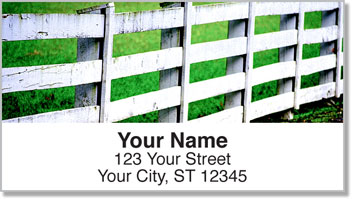 Country Fence Address Labels