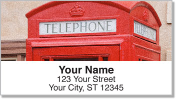 Vintage Phone Address Labels