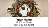 Autumn Wreath Address Labels