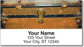 Vintage Trunk Address Labels