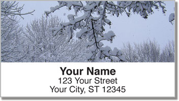 Fresh Snowfall Address Labels