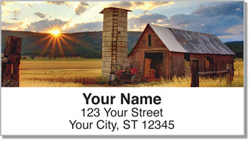 Farm Field Address Labels