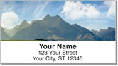 Scenic Mountain Address Labels