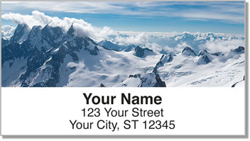 Snowcapped Mountain Address Labels