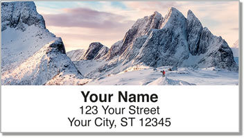 Winter Mountain Address Labels